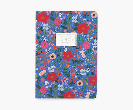 Rifle Paper co. — Cahier Wild Rose bleu