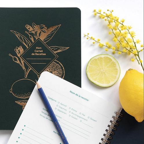 Les Éditions du Paon — Carnet de Recettes Lemonade vert sapin