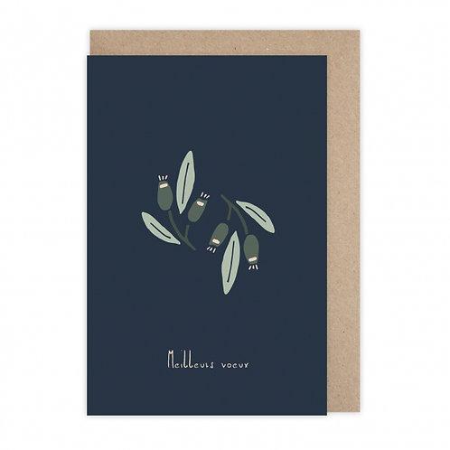 Monsieur Papier — Carte Voeux fleuris