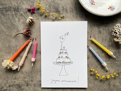 Papillon Papillonnage — Carte Gâteau !