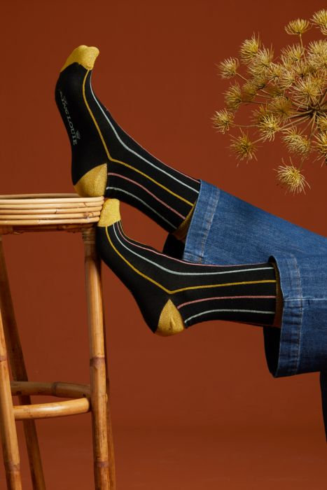 King Louie — Chaussettes (2 paires) Carrousel Curry Yellow