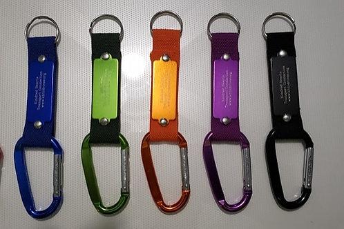 KHTC Carabiner Key Fobs - Set of 6