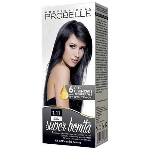 Coloração Probelle Super Bonita 1.11 Preto Azulado 50g