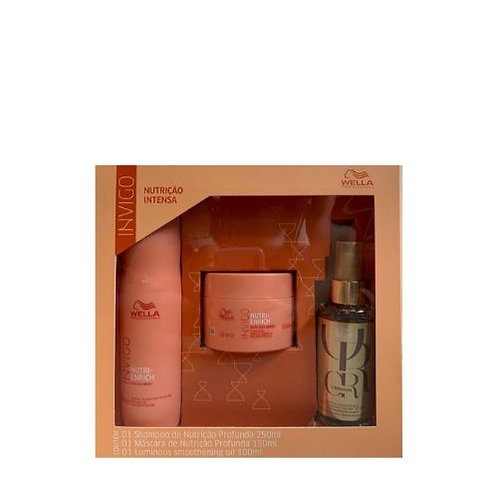 Kit Wella Nutri-Enrich: Shampoo 250ml +Máscara 150ml e Oil Reflections 100ml