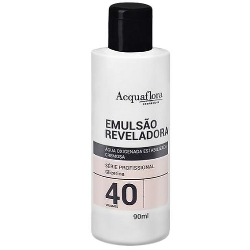 - Emulsão Reveladora Acquaflora 40vol 90ml (Água Oxigenada)