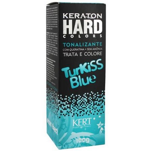 Tonalizante Keraton Sem Amônia  Hard Colors Turkiss Blue 100g