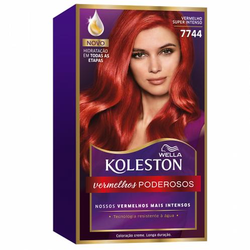 Coloração Creme Wella Koleston Vermelho Super Intenso 7744
