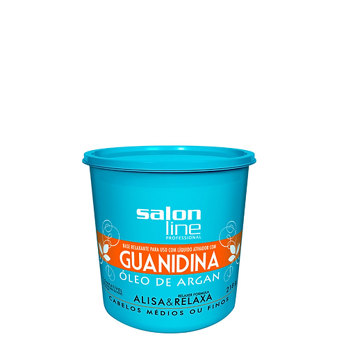 Guanidina Salon Line Óleo de Argan Alisa e Relaxa Médio 218gr