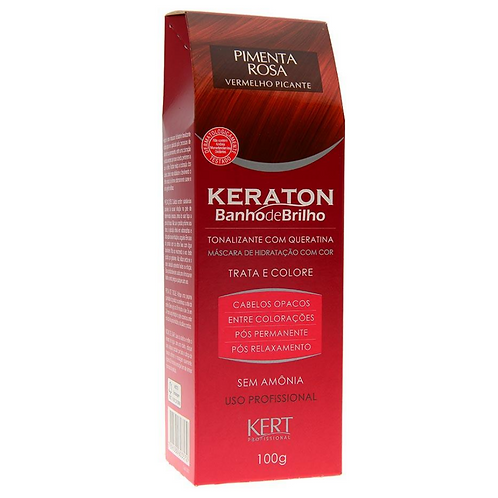 Tonalizante Keraton Sem Amônia Banho De Brilho Pimenta Rosa Vermelho Picante
