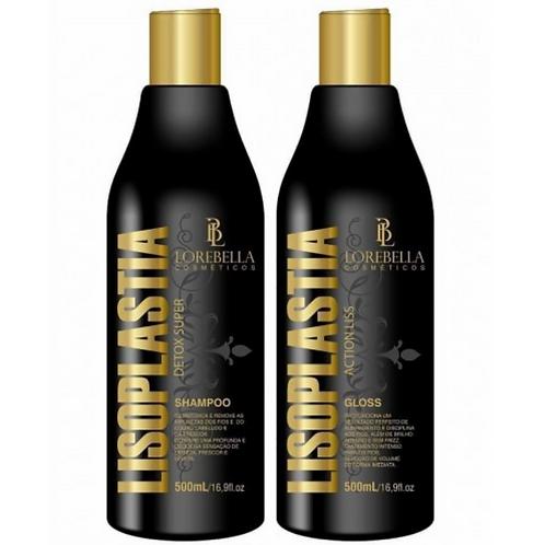 Kit Lisoplastia Lorebella Shampoo 500ml + Gloss 500ml