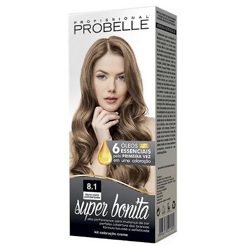 Coloração Probelle Super Bonita 8.1 Louro Claro Acinzentado 50g