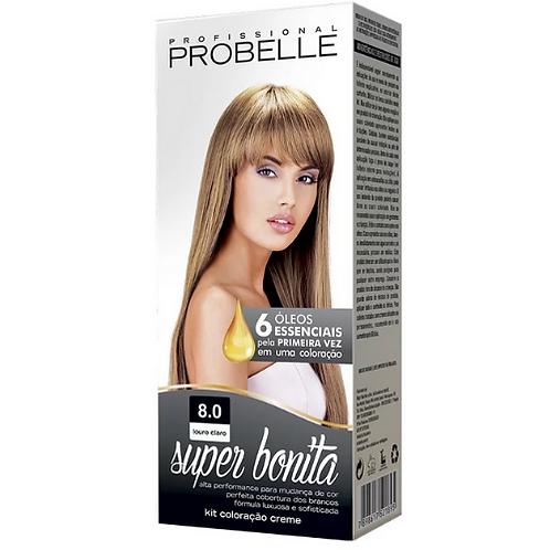 Coloração Probelle Super Bonita 8.0 Louro Claro 50g