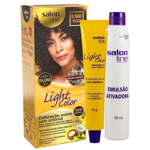 Coloração Salon Line Light Color Profissional 5.560 Ágata 45g