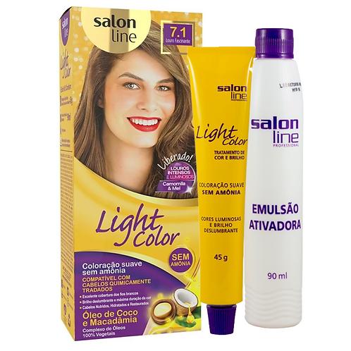 Coloração Salon Line Light Color 7.1 Louro Fascinante 45g