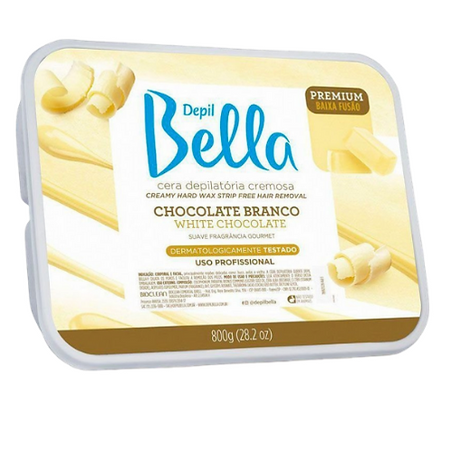 Depil Bella Cera Depilatória chocolate branco 800g