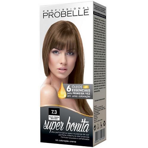 Coloração Probelle Super Bonita 7.3 Louro Médio Dourado 50g