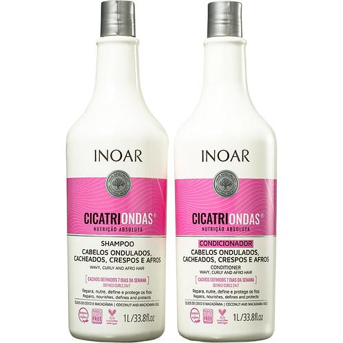 Kit Inoar Cicatriondas Shampoo 1L + Condicionador 1L