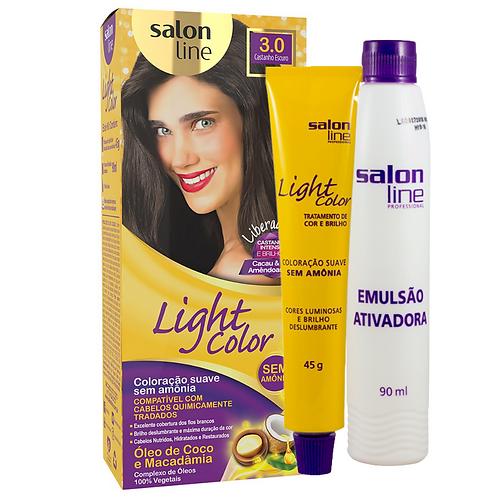 Coloração Salon Line Light Color 3.0 Castanho Escuro 45g