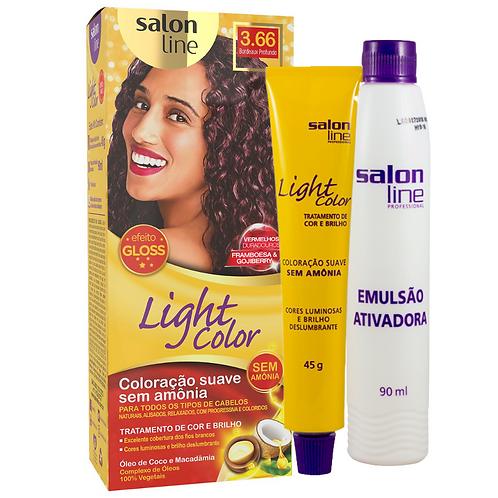 Coloração Salon Line Light Color 3.66 Bordeaux Profundo 45g