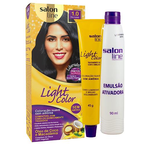Coloração Salon Line Light Color 1.0 Preto Azulado 45g