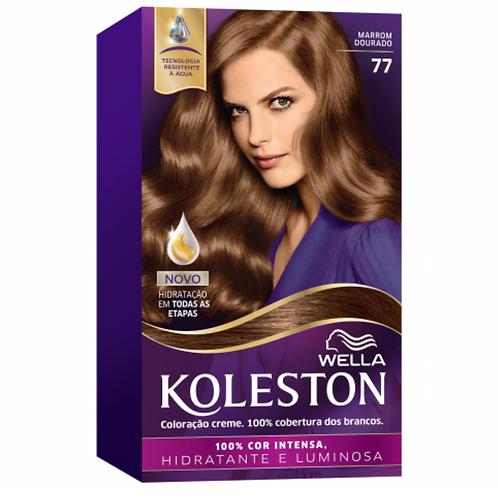Coloracao Creme Wella Koleston Marrom Dourado 77