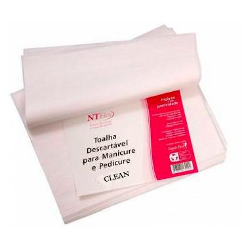 Toalha descartável de Pedicure NT FLEX  Clean 30X40cm C/ 100 unidades