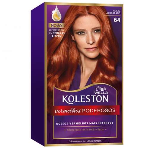 Coloração Wella Koleston Acaju Acobreado 64