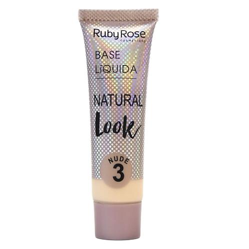 Base Líquida Ruby Rose Natural Look Nude 3 29ml