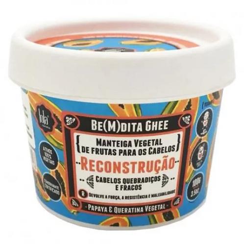 Lola Be(m)dita Ghee Máscara de Reconstrução  Papaya e Queratina Vegetal 100g