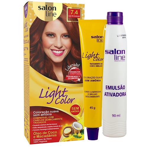 Coloração Salon Line Light Color 7.4 Louro Mel Acobreado 45g