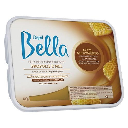 Depil Bella Cera Depilatória  Própolis e Mel 800g + 200g