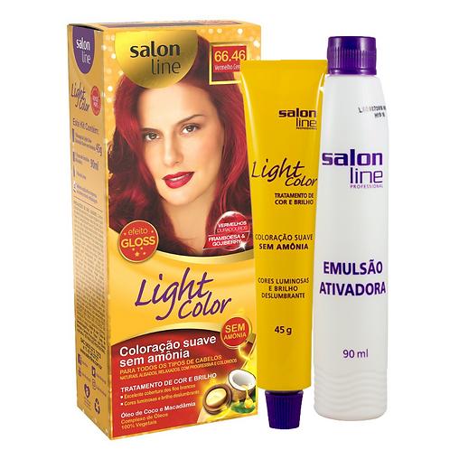 Coloração Salon Line Light Color 66.46 Vermelho Cereja 45g