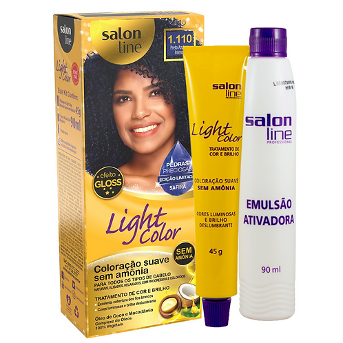 Coloração Salon Line Light Color Profisisonal 1.110 Safira 45g