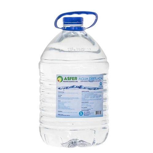 Água destilada Asfer 5l
