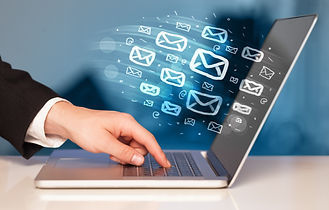 Concept of sending e-mails from your com