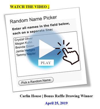 4/25/19 Bonus Raffle Drawing   Winner