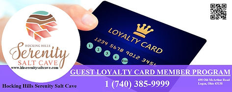 Guest Loyalty Program | Hocking Hills Serenity Salt Cave