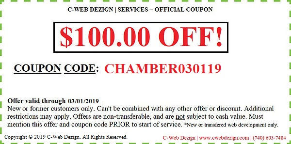 CHAMBER030119_100 OFF -NWD COUPON