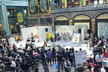Opening events at the atrium at NTSEC.jp