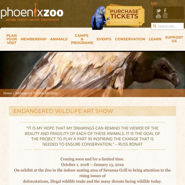 Phoenix Zoo Exhibition