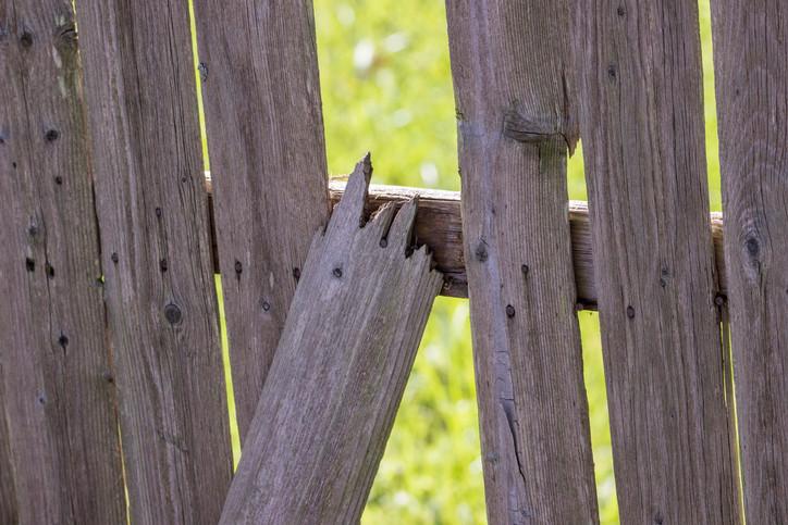Broken Wood Fence