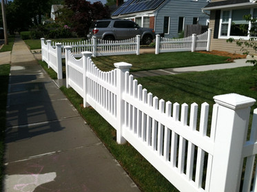 Picket pvc fence