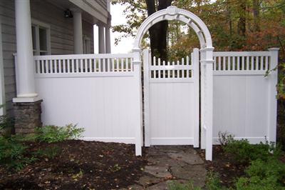 Pvc Fence and Arbor