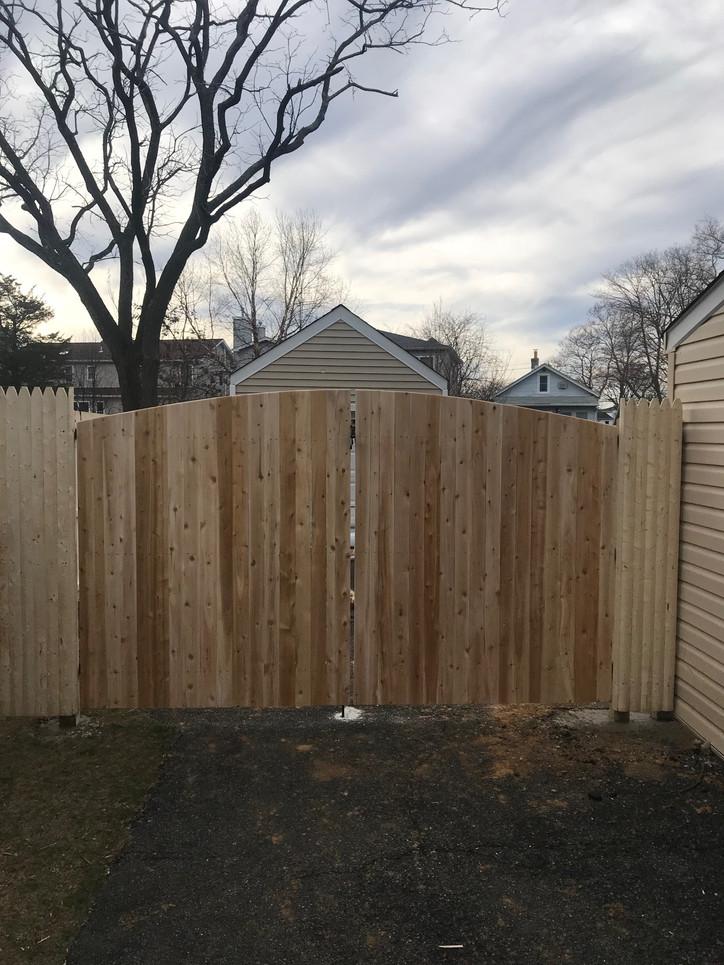 Wood Drive Gates