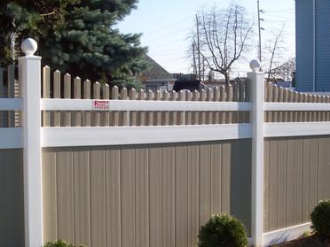 Two Tone Pvc Fence