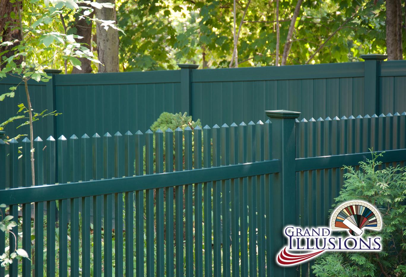Green Pvc Fence