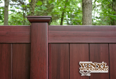 Woodgrain Pvc Fence