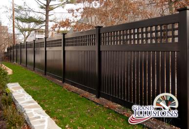 black custom pvc fence
