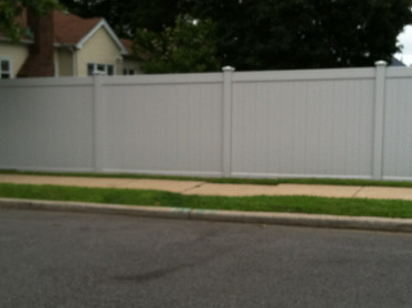 Grey Pvc Fence