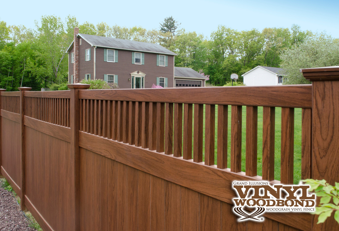 Rosewood pvc fence